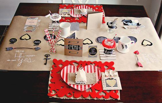 valentine table decor: Table Decorations, Birthdays Valentines, Cutest Table, Lovers Month Valentines, Holidays Valentines, Dinner Sets