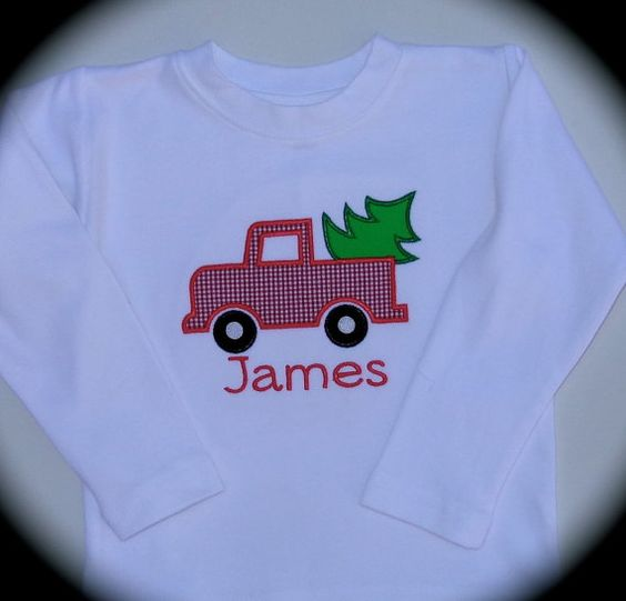 Custom Personalized Appliqued Boy's Christmas by KinleasKloset, $22.50