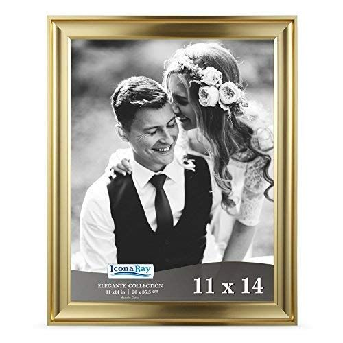 Icona Bay 11x14 Picture Frame 11 X 14 1 Pack Gold Photo Frame Wall Mount Hangers Deluxe Velvet Backi 11x14 Picture Frame Gold Photo Frames 5x7 Picture Frames