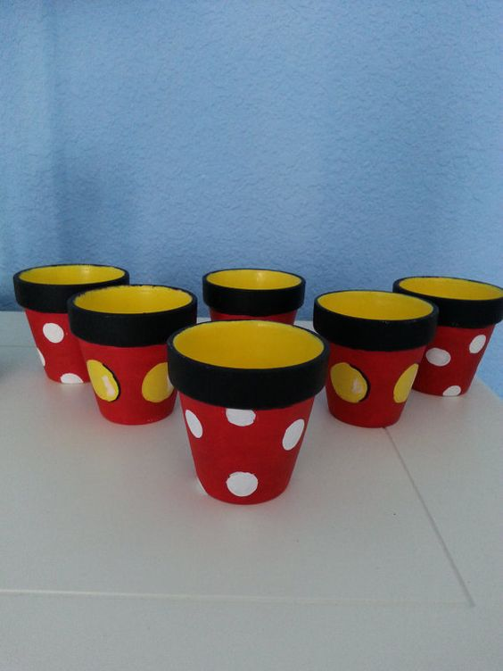 Set of 6 Hand painted children's character 1 by RaindropsNRoses