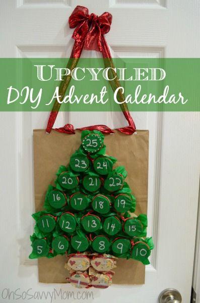 Upcycled DIY Advent Calendar - Oh So Savvy Mom