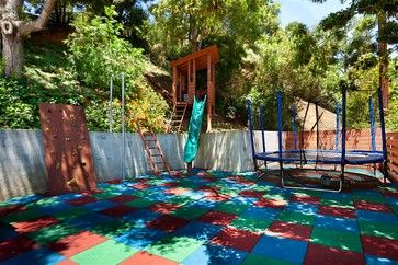 Kid friendly backyard backyards and backyard ideas on for Children friendly garden designs