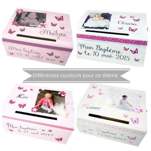 Personnalisé en bois Memory Box et album photo Baptême Baptême Cadeau