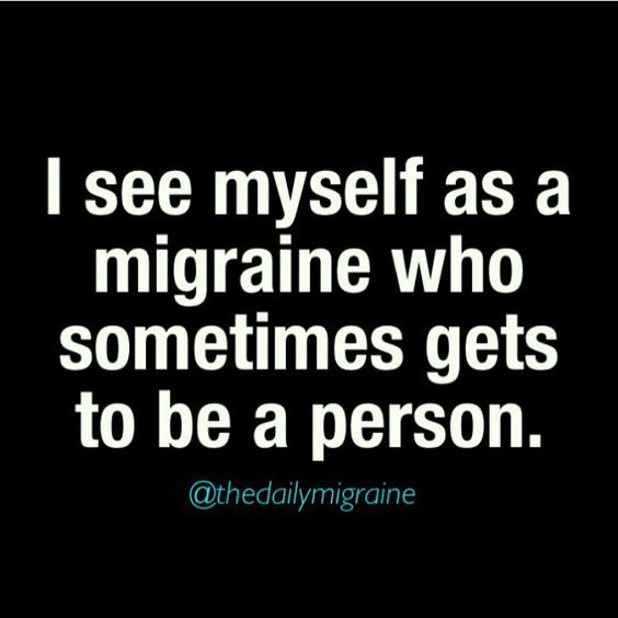 Chronic migraines has permanently damaged my ability to feel physical pain, so I feel discomfort instead and over react to hide this fact. I am alway checking to make sure I don't have an injury anywhere.