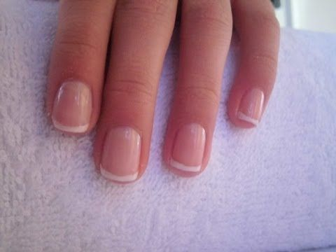 easy way to make french manicure for short nails einfache french manik re f r kurze n gel. Black Bedroom Furniture Sets. Home Design Ideas