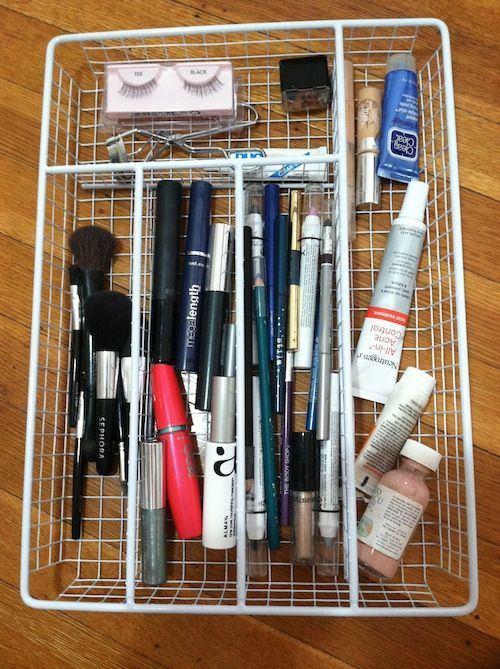 How to organize makeup and avoid a major argument bathroom drawers makeup drawer and for How to organize bathroom drawers
