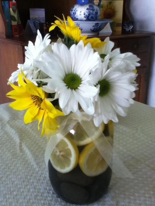 Daisy small sunflower centerpieces weddings
