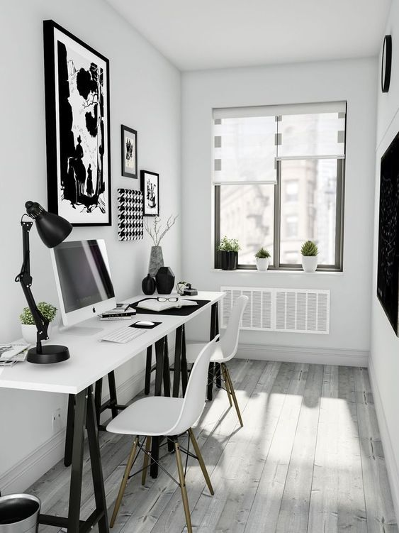 25 Black And White Home Office Designs Home Office Design