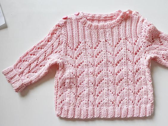 anleitungen f r babyj ckchen babypullover in arbeit stricken lernen h keln lernen mit. Black Bedroom Furniture Sets. Home Design Ideas