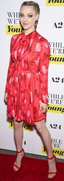 Amanda Seyfried: Dress – Valentino  Shoes – Givenchy  Jewelry – Jacob & Co.