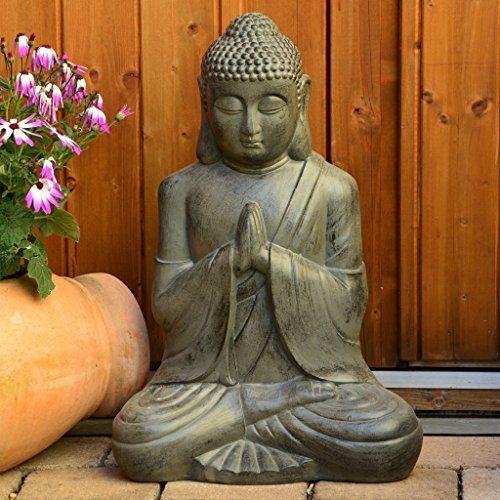 Intrendu Bouddha Statuette Chinois 50cm Decoration Zen Pour