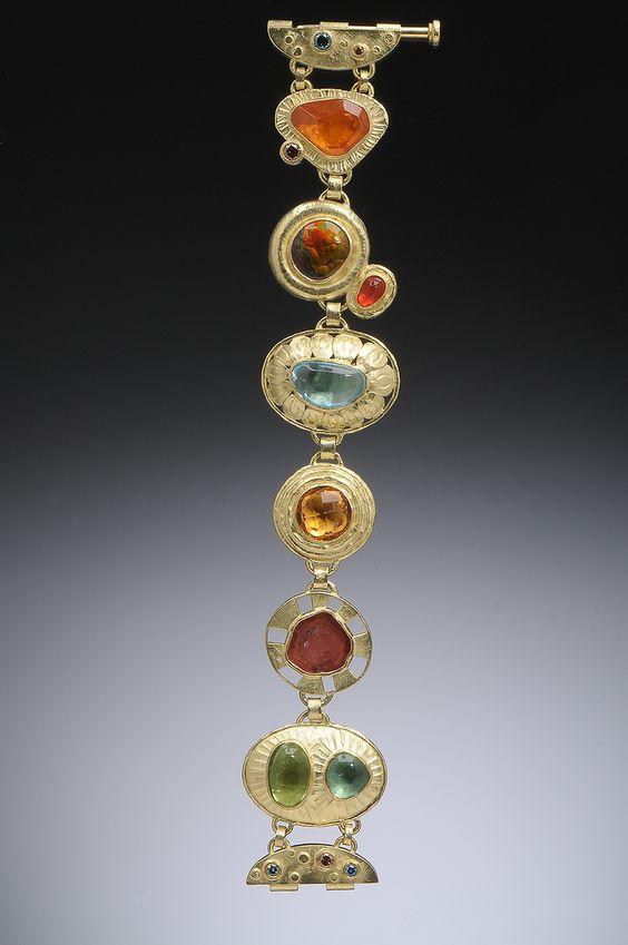 "Hughes-Bosca Jewelry   Bracelets - with nice ""hinge"" clasp"