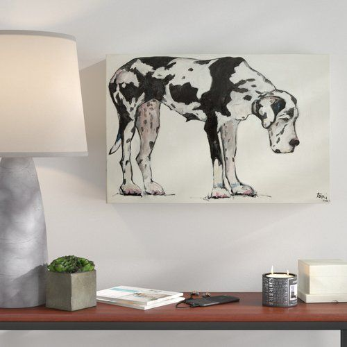 East Urban Home Great Dane By Tori Campisi Painting Print On