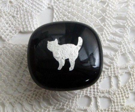 iichi 猫の帯留め・黒
