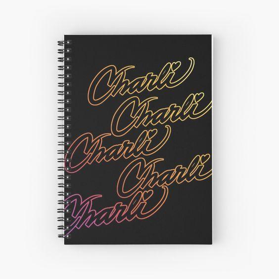 Charli Damelio Signature Name Rainbow Charli D Amelio Hype House Tiktok Spiral Notebook By Vane2 Youtube Design Name Design Rainbow Names