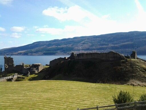 An old Scottish castle on the loch ness lake