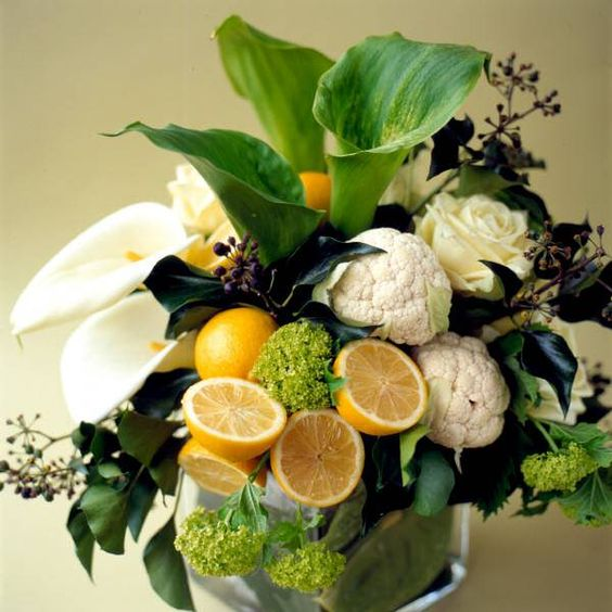 2014 unique floral arrangements | ... Floral Arrangements with Lemons Creating Unique Table Centerpieces: