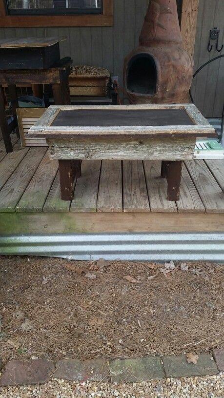 Cedar board small coffee table