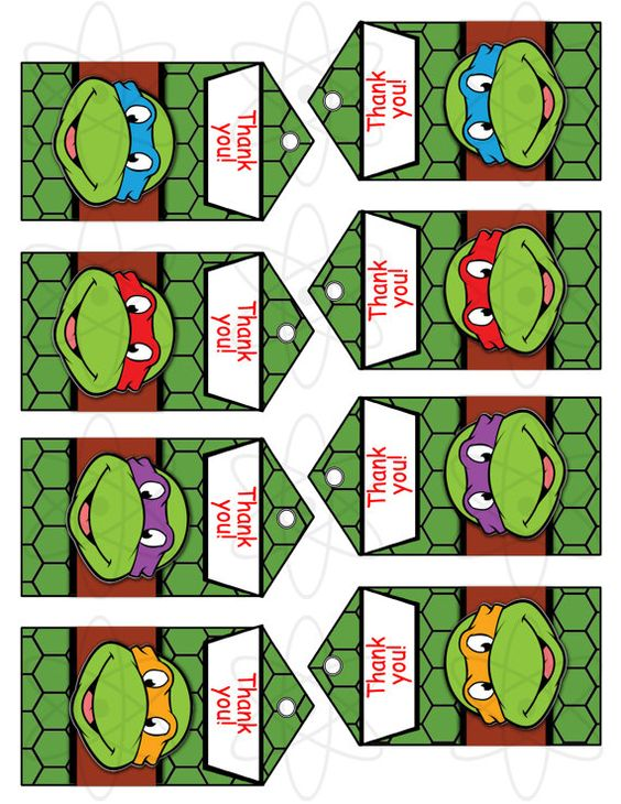 It is a picture of Sweet Ninja Turtle Party Printables