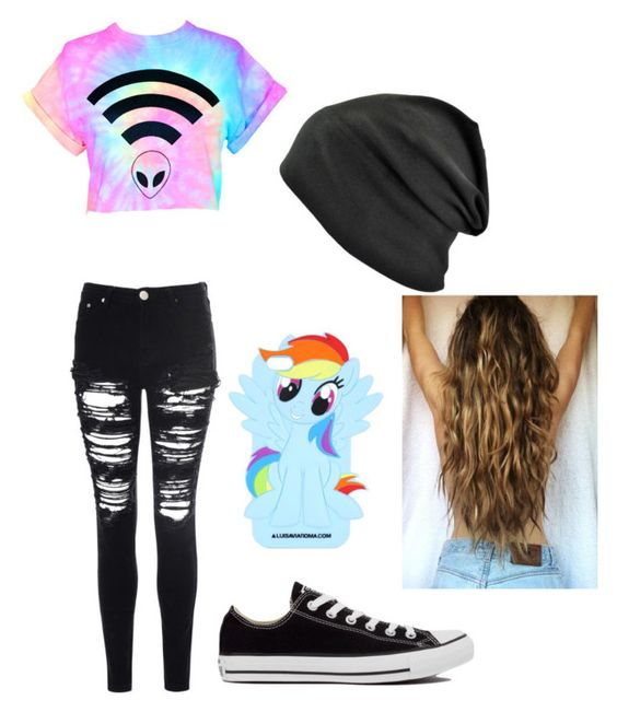 """Untitled #96"" by xxmia-hood-xx ❤ liked on Polyvore featuring Glamorous and Converse"