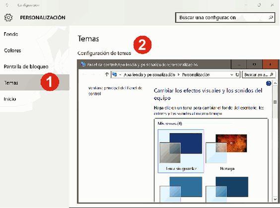 Cambiar los Temas en Windows 10
