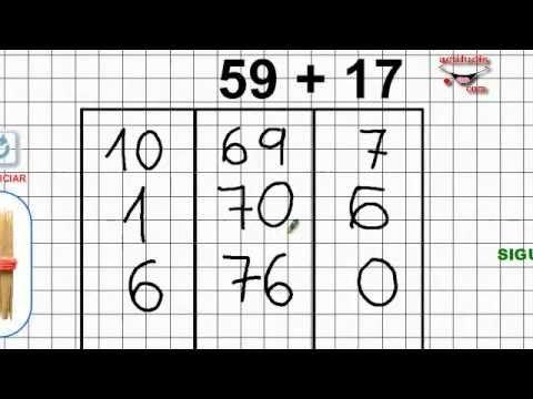 Sumas ABN hasta el 100 (3 videos)
