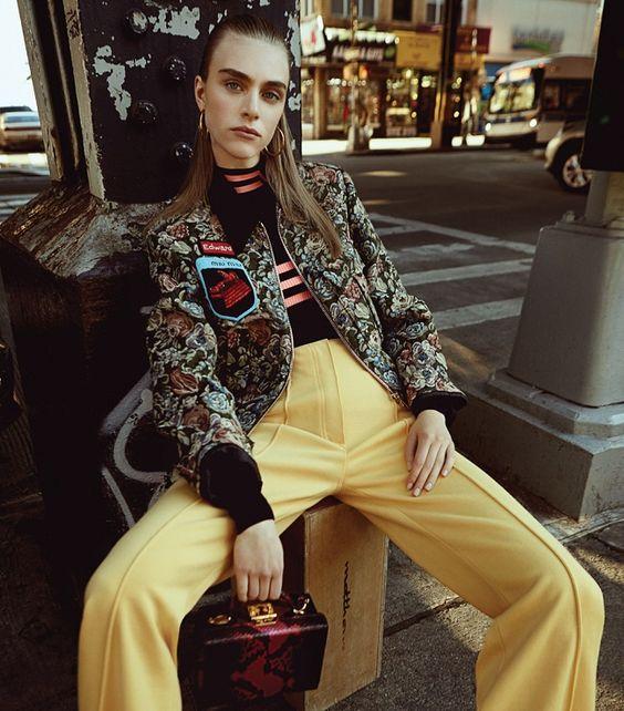 """""""Down Town"""" - la bellissima Hedvig Palm stordisce negli scatti eleganti di Louis Christopher per Harper's Bazaar Serbia Febbraio 2017."""