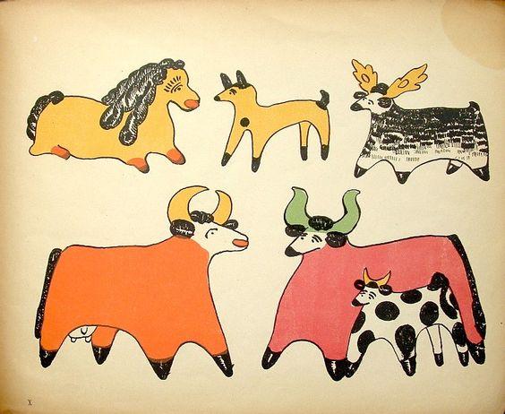 Вятская народная игрушка. Из книги, 1920-е