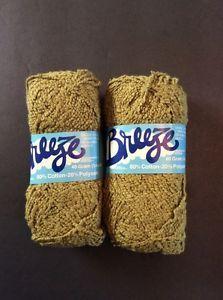 Breeze Brunswick Yarn 2 Skeins Avocado Green 40 grams Cotton Blend 1 4 Ounce Vtg   eBay