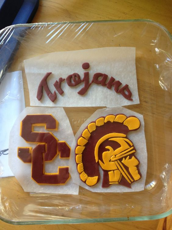 Usc Birthday Cake Images : Usc fondant cake toppers Products I Love Pinterest ...