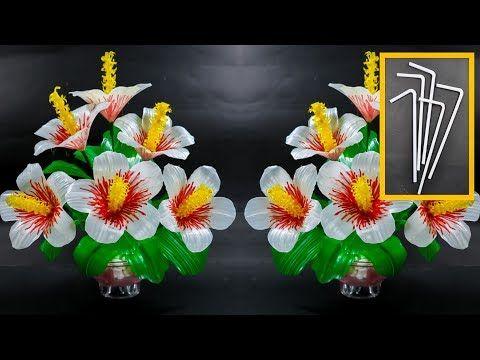 Cara Membuat Bunga Putih Hias Dari Sedotan Kreatif Pretty White