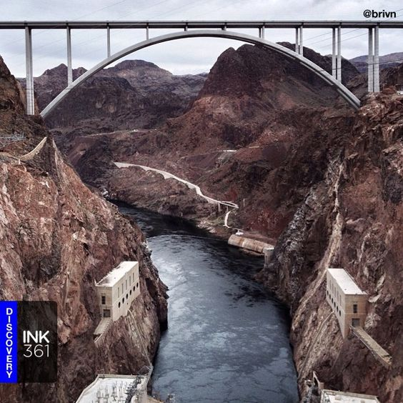 This Daily Discovery is from Instagram user brivn - Named one of the Top 10 Construction Achievements of the 20th Century in 2001, Hoover Dam is one of the most amazing structures ever built. This shot of the Pat Tillman Bridge was shot by the briliant @Brian Cahapay. For more great photos follow @Brian Cahapay! >> Don't forget to tag your photos with #ink361 or #ink361_mobile to get discovered. Follow us at http://ink361.com/ink361 : a great way to explore Instagram.
