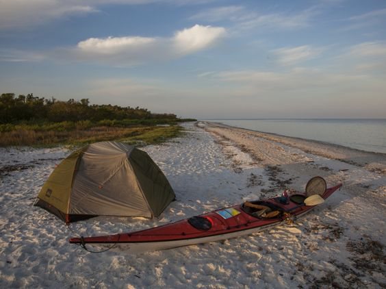 9 Romantic Park Trip Ideas: Kayak and camp at Cape Sable, Everglades, Florida. Read on for more outdoor date ideas.