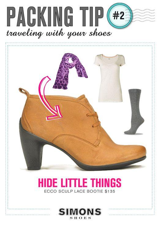 #FakinoTips - Guarda los artículos pequeños como medias y cinturones dentro de los zapatos