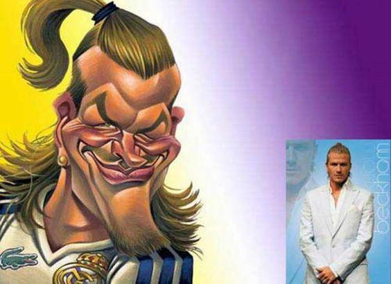 David Beckham Karikatur Zeichnung