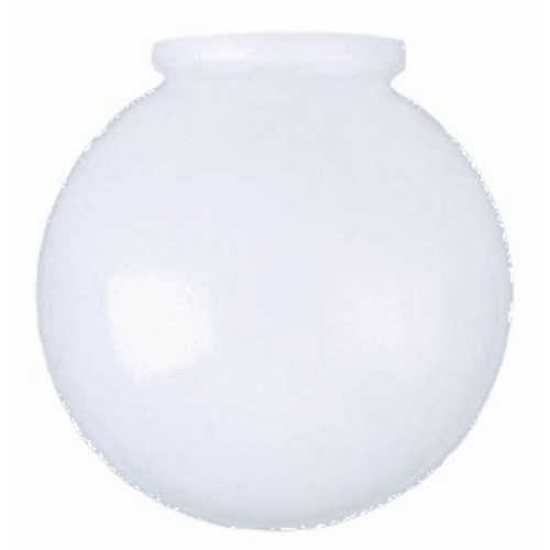 6 Inch White Glass Globe 3 1 4 Inch Fitter Opening