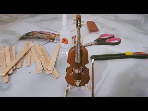 Membuat Miniatur Biola Dari Stik Es Krim Manualidades Tutoriales