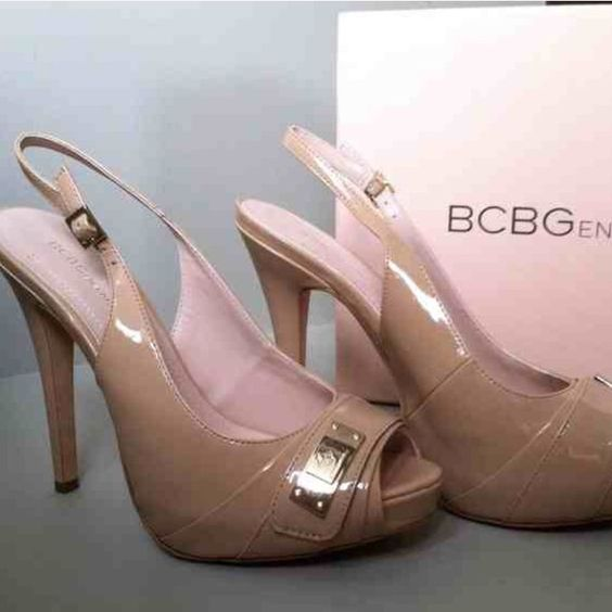 BRAND NEW BCBG Patent Nude Pumps BRAND NEW BCBG nude pumps. BCBG Shoes Heels