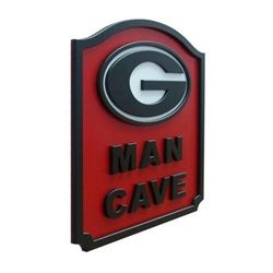 Georgia Bulldogs Man Cave Shield Art Sign
