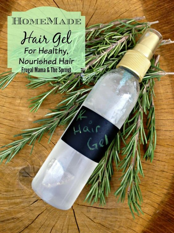 Homemade Hair Gel Recipe for healthy and nourished hair and scalp. This hair gel recipe has all the hold of store bought gels but at a fraction of the cost without all the nasty chemicals.