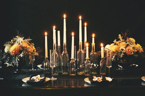 moody glamour  Photography by rebeccahansenweddings.com, Floral Design by foret-design.com, Design   Styling by stylemepretty.com