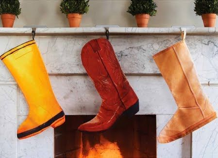 and the boots were hung by the chimney with care...