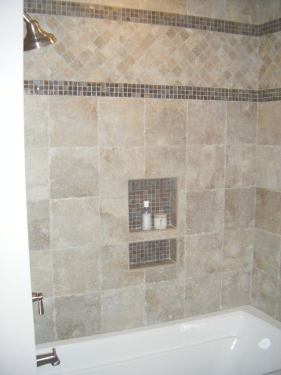 glass tile border bathroom ideas pinterest glasses ForGlass Tile Border Bathroom Ideas