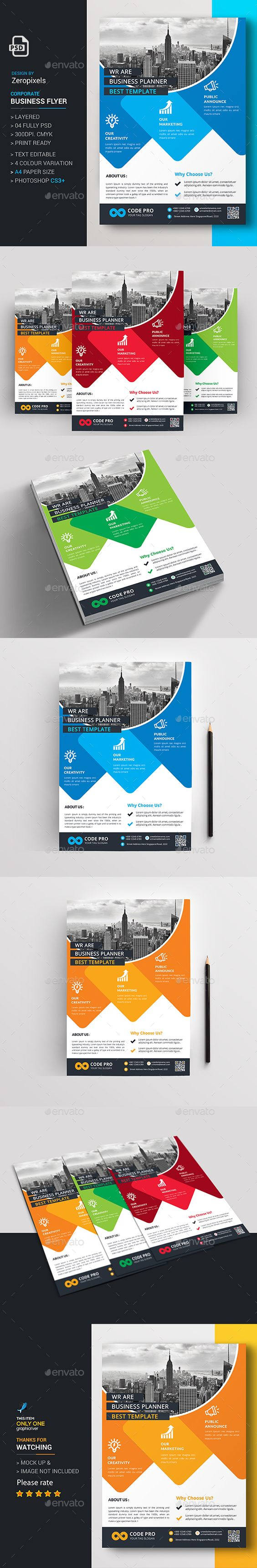Corporate Business Flyer Template - Flyer Print Template PSD. Download here: http://graphicriver.net/item/corporate-business-flyer/16413343?s_rank=56&ref=yinkira