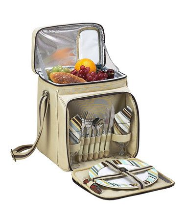 Take a look at this Cream Santa Cruz Two-Person Picnic Cooler by Picnic at Ascot on #zulily today!
