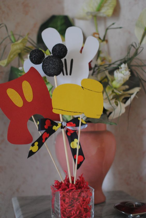 Small mickey decorations mouse party
