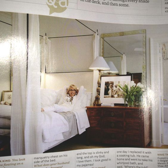 Yup. This'll do. Love the heavy chest as side table. Adds masculinity to feminine space. Oversized mirrors? Love it!