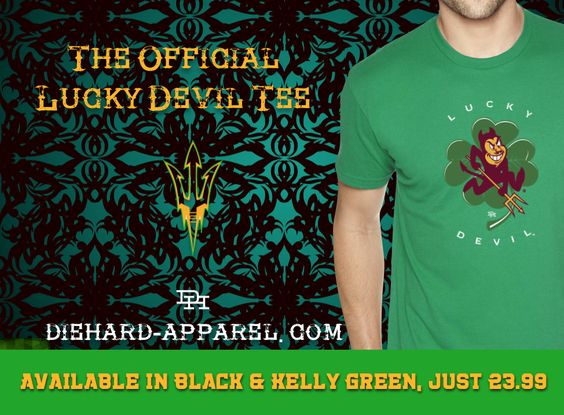 Is your Size and Color left? Get your GREEN on, Sun Devil! DieHard-Apparel.com