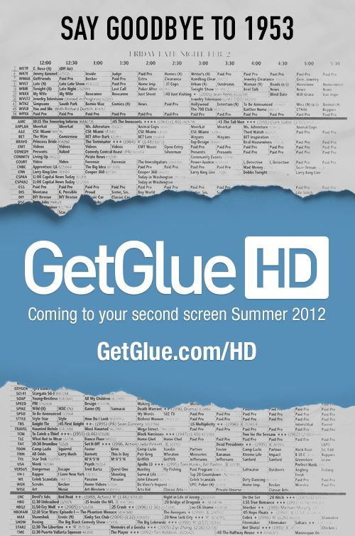 Are you ready for GetGlue HD? We're launching an exciting update this summer to bring you a new kind of guide! Make sure to share this fun graphic on Facebook, Twitter, and Pinterest to help spread the word!