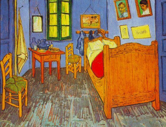 """""""Vincent's Bedroom in Arles"""" (1889) by Vincent Willem van Gogh"""